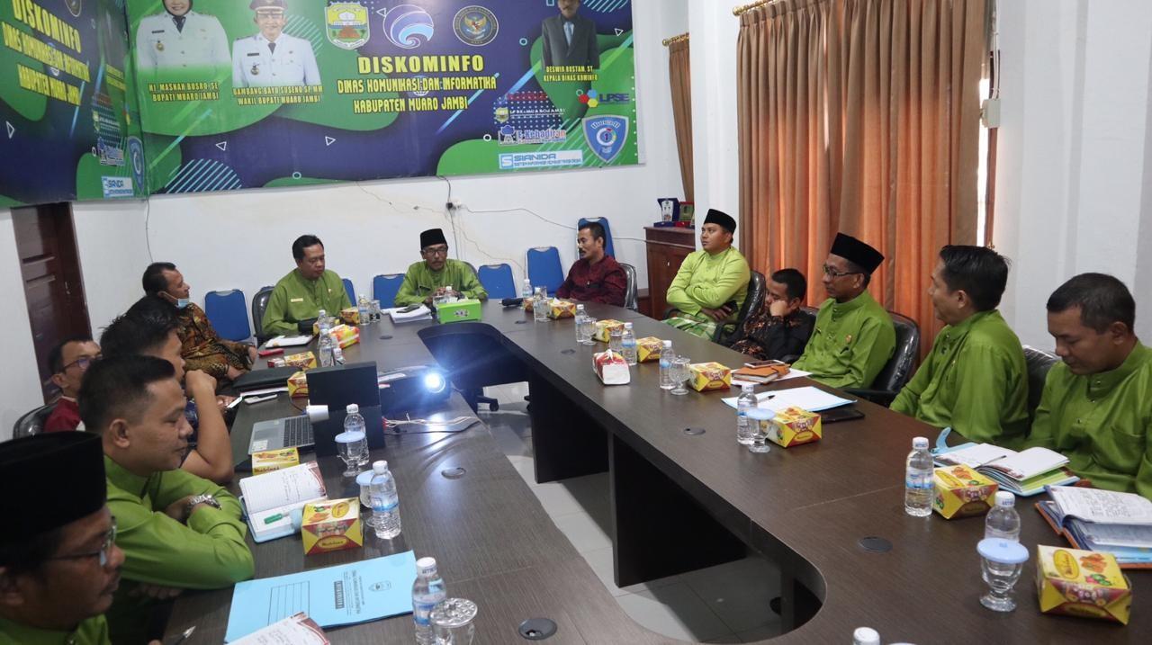 Kunjungan kerja Komisi III DPRD Kabupaten Tebo ke Dinas Kominfo Kabupaten Muaro Jambi