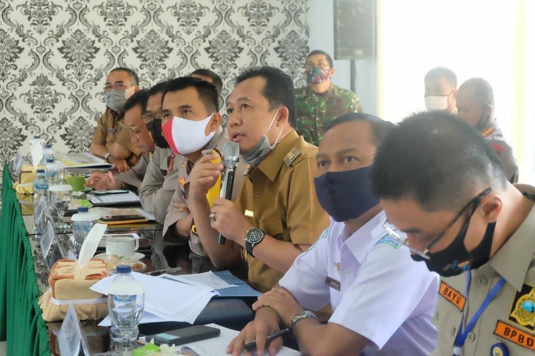 Wakil Bupati Kabupaten Muaro Jambi mengikuti Rakor Penanganan Karhutla